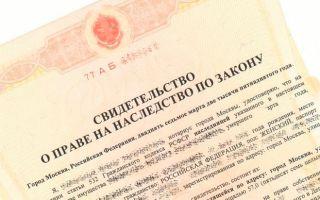 Получение свидетельства о праве на наследство по закону (очередности)